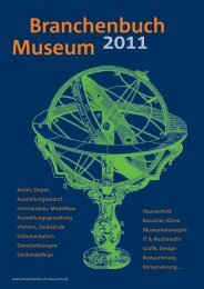Namhafte Museen setzen auf kombinierte ... - Branchenbuch Museum