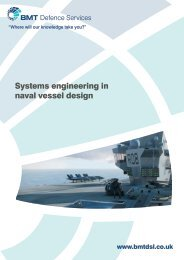 Systems engineering in naval vessel design - BMT Group