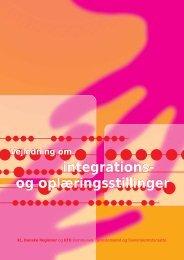 Vejledning om integrations- og oplæringsstillinger - Danske Regioner