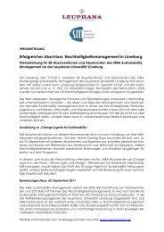 Erfolgreicher Abschluss: Nachhaltigkeitsmanagement in Lüneburg