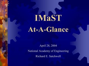Integrated Mathematics, Science, and Technology - National ...