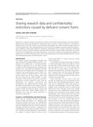 Sharing research data and confidentiality ... - UK Data Archive