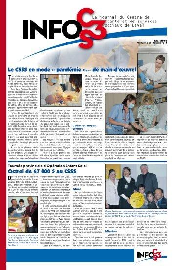 Volume 2 Numéro 4 - Centre de santé et de services sociaux de Laval