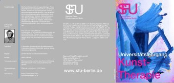 Kunsttherapie-Folder - SFU Berlin