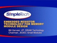 Embedded Resistor Technology for Memory Module Design