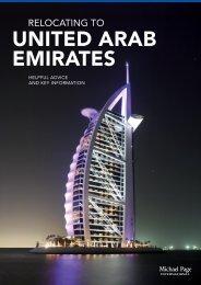 UNITED ARAB EMIRATES - Michael Page