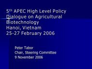 Report from the High Level Policy Dialogue on Agricultural ...