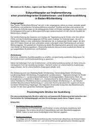 Eckpunktepapier zur Implementierung einer praxisintegrierten ...