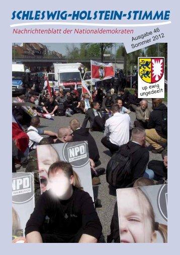 Ausgabe 46 Sommer 2012 - Schleswig-Holstein-Stimme - NPD ...