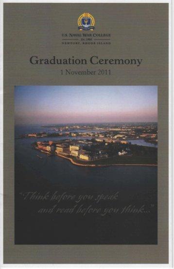 November 1, 2011 - US Naval War College