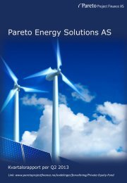 Kvartalsrapport Q2-2013 - Pareto Project Finance