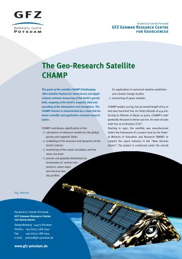 The Geo-Research Satellite CHAMP