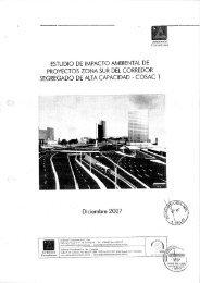 Estudio de Impacto Ambiental de Proyectos Zona ... - Protransporte