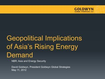 Geopolitical Implications of Asia's Rising Energy Demand