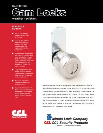 CamLocks_WeatherResistant 2011_05 16 11 - KDL Hardware Supply