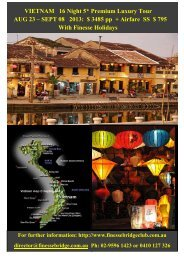 VIETNAM 16 Night 5* Premium Luxury Tour ... - Finesse Bridge Club