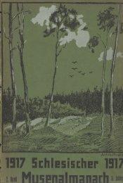 1917 Schlesischer 1317 im Musenalmanach'Â«