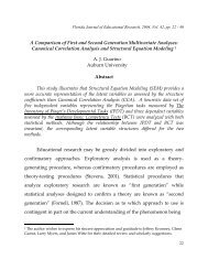 A Comparison of First and Second Generation Multivariate Analyses ...