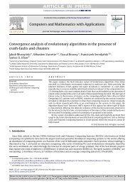 Convergence analysis of evolutionary algorithms ... - Samee U. Khan