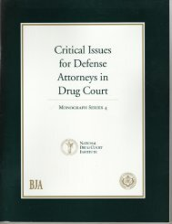 Critical Issues for Defense Attorneys in Drug Court - National Drug ...