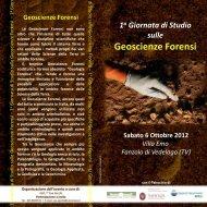 Geoscienze Forensi - Scienze della terra