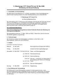 3. Oldenburger CITY Grand Prix am 30. Mai 2009 Einladung und ...