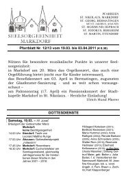 Pfarrblatt Nr 10-11-11 - Seelsorgeeinheit Markdorf