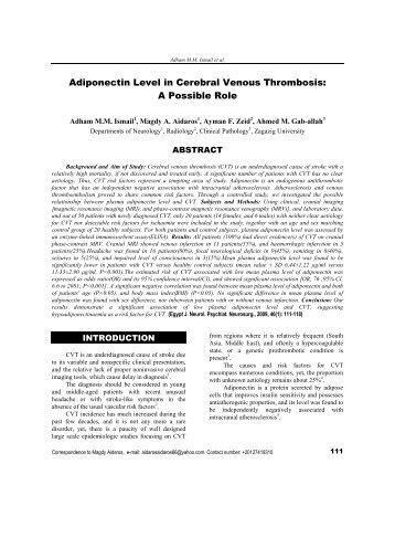 The Egyptian Journal of Neurology and Neurosurgery