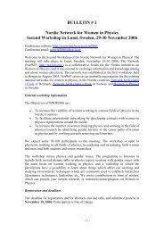 Bulletin 1 - Particle Physics, Lund University