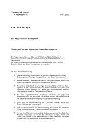 Thüringer Energie-, Klima - Uwe Barth in Thüringen