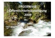 ERGEBNISSE Öffentlichkeitsbeteiligung 2009 - Umweltdachverband