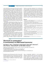Shortcuts in systematics? A commentary on DNA-based taxonomy
