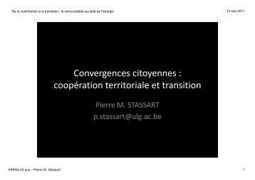 Convergences citoyennes : coopération territoriale et ... - APERe