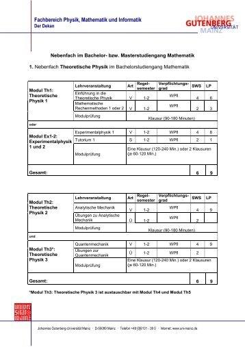 Download - im Fachbereich Physik, Mathematik und Informatik ...