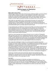 Factsheet Waterschappen en staatssteun - Europa decentraal