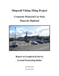 Dingwall Viking Thing Project Cromartie Memorial Car ... - THING Sites