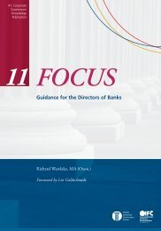 FOCUS 11 Guidance for the Directors of Banks - IFC