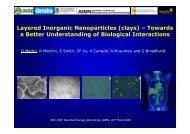 Layered Inorganic Nanoparticles - University of Queensland