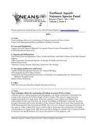 Volume 2, Issue 4, July 1, 2003 - Northeast Aquatic Nuisance ...