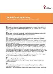 Wesentliche Inhalte der AVO - Bistum Hildesheim