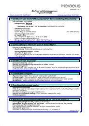 Venus veiligheidsinformatieblad (PDF) - Heraeus