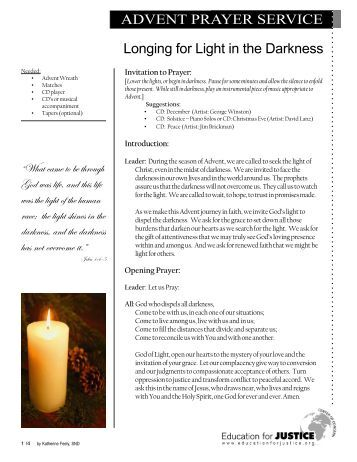 advent candle lighting readings world vision canada. Black Bedroom Furniture Sets. Home Design Ideas