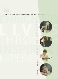 ANNUAL REPORT.indd - Center for the Performing Arts - Penn State ...