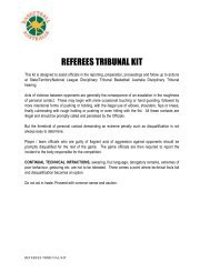 Referees Tribunal Kit PDF - Basketball Australia