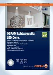OSRAM kohtvalgustid: LED Cone.