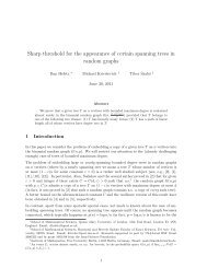 Sharp threshold for the appearance of certain spanning trees in ...