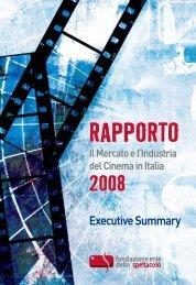 Rapporto 2008 - Cultura in Cifre