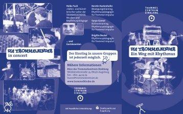 Ein Weg mit Rhythmus in concert - Die Trommelkinder