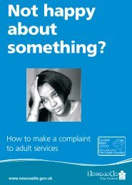 complaints leaflet - Newcastle City Council
