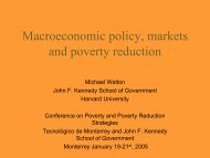 Macroeconomic policy, markets and poverty reduction